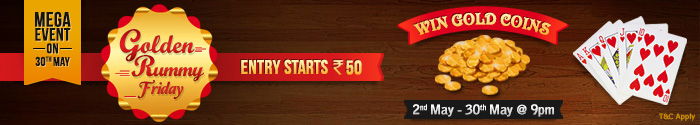 Adda 52 rummy Golden friday rummy