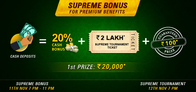 rummy circle supreme bonus