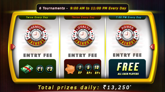 Rummy Circle Daily Jackpot Tournaments