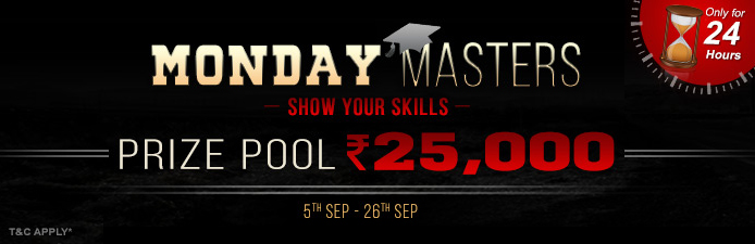 Adda52 Rummy Tournaments | Monday Masters Promotion