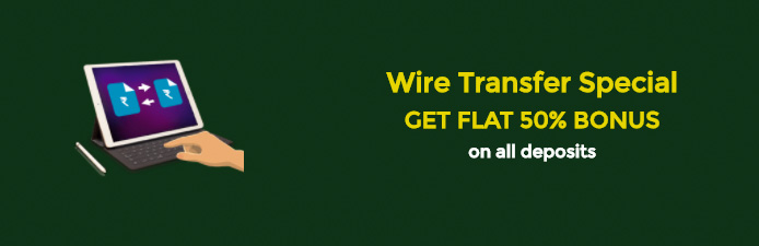 Wire Transfer Special Bonus at Classic Rummy