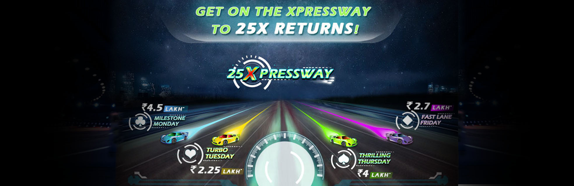 25Xpressway Rummy Tournaments at RummyCircle