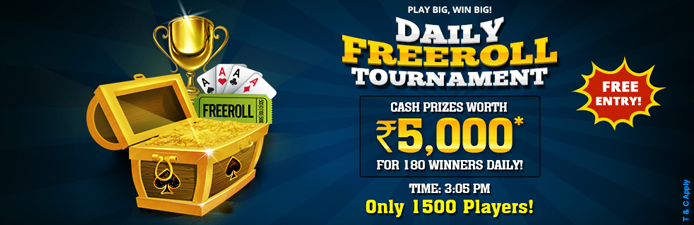 Daily Freeroll Rummy Tournament at KhelPlay Rummy